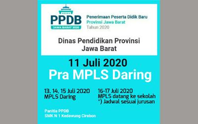 Pengumuman MPLS Daring Tahun 2020